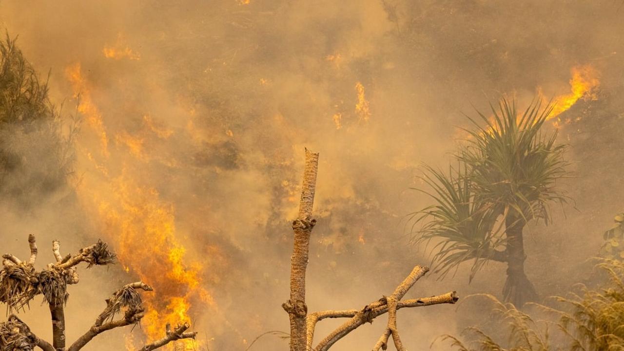 Fraser Island fire photos from ABC Sunshine Coast