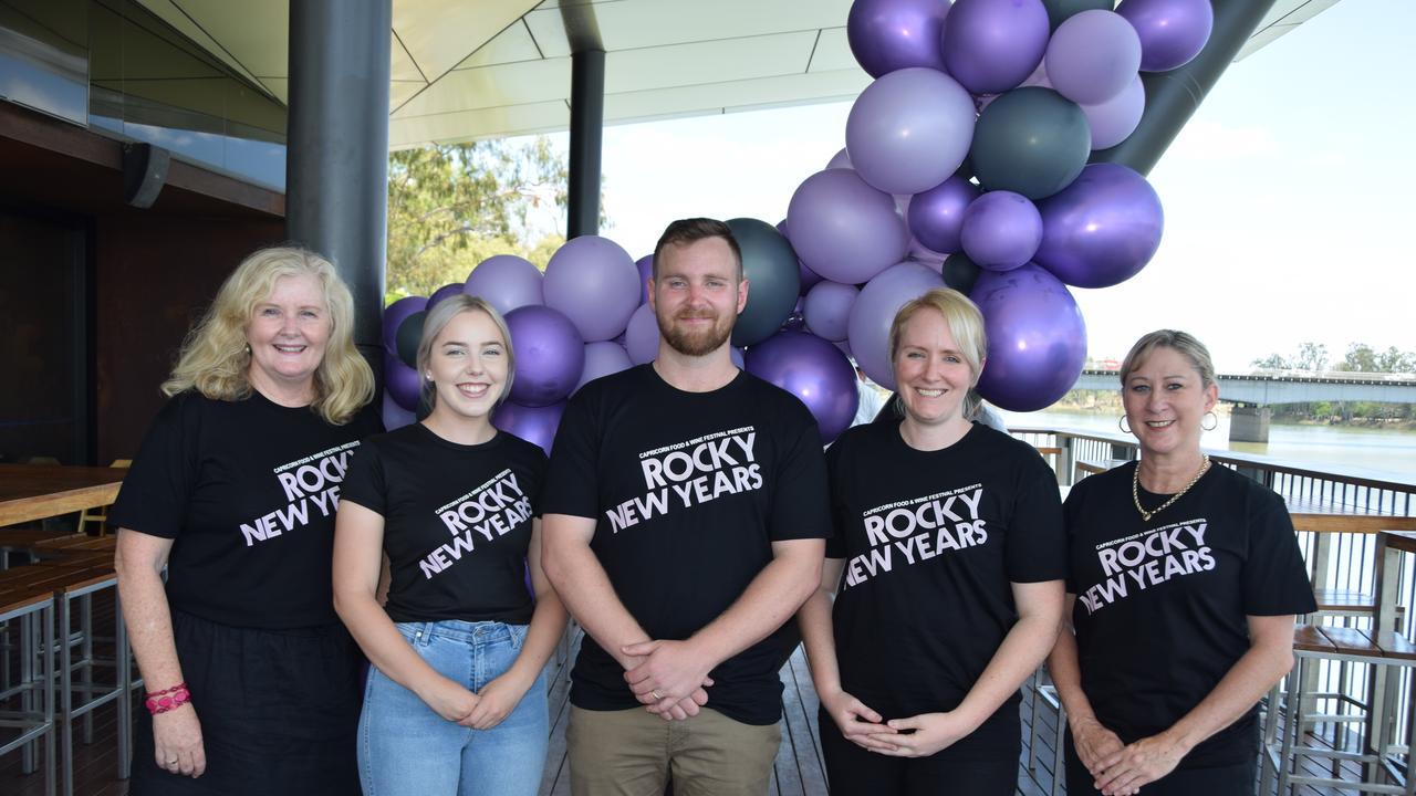 The team behind Capricorn Food and Wine Festival Inc: Michelle Buchholz, Sophie Agius, Callan Buchholz, Rhiannon Rotchford and Kelly-Rae Smith.