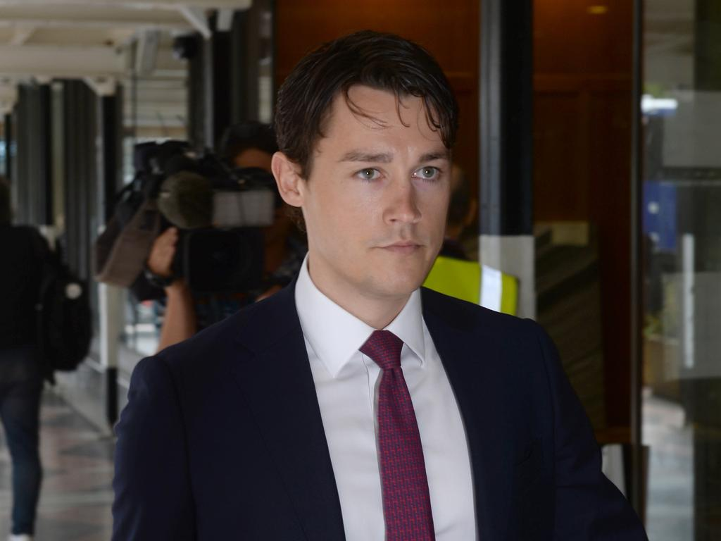 Sebastian Blackler arrives at Downing Centre Local Court. Picture: NCA NewsWire / Jeremy Piper