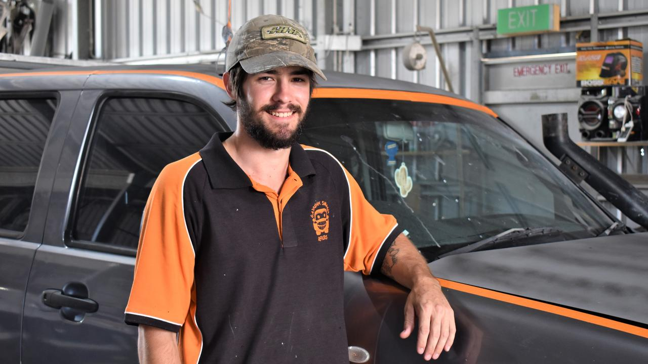 THE votes have been counted and the results are in, the North Burnett's favourite young worker is Kyle Millington from Gayndah Smash Repairs. Photo: Kristen Camp