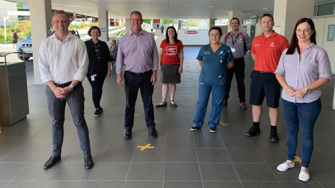 ELECTION PLEDGE: Labor's Deputy Premier and Minister for Health Steven Miles was joined by Labor's candidates for Rockhampton, Barry O'Rourke and Keppel, Brittany Lauga to make an election promise of $31 towards the upgrade and expansion of Rockhampton Hospital.