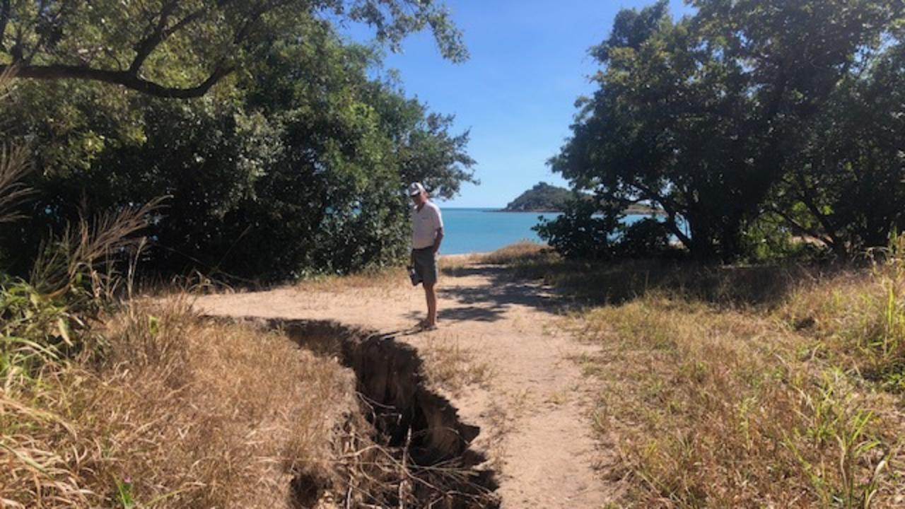 The Frog Rock coastal reserve has been worn away by increased access and weather events. Picture: Supplied