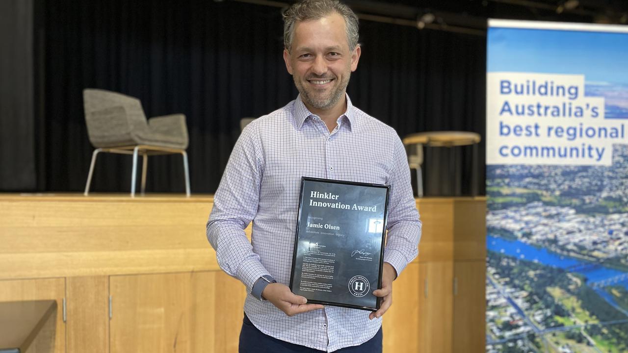 Jamie Olsen was the winner of the 2020 Hinkler Innovation Award.