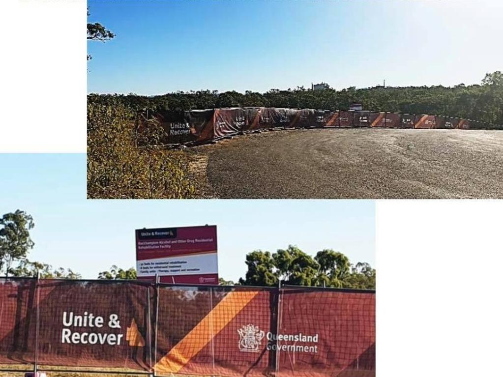 CONSTRUCTION SITE: Behind this fence, work has begun on building Rockhampton's Alcohol and other Drug Rehabilitation Centre.