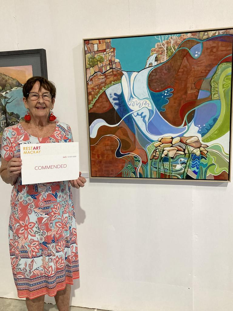 Judi Wynne's work earned a commended at the RestART Mackay competition. Picture: Contributed