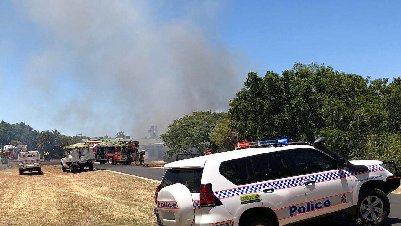 Multiple fire crews are working to contain a house fire at Ironbark Drive, Emerald.
