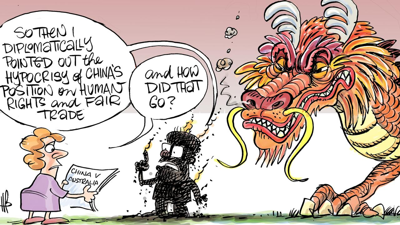 Harry's view on the tensions between Australia and China.