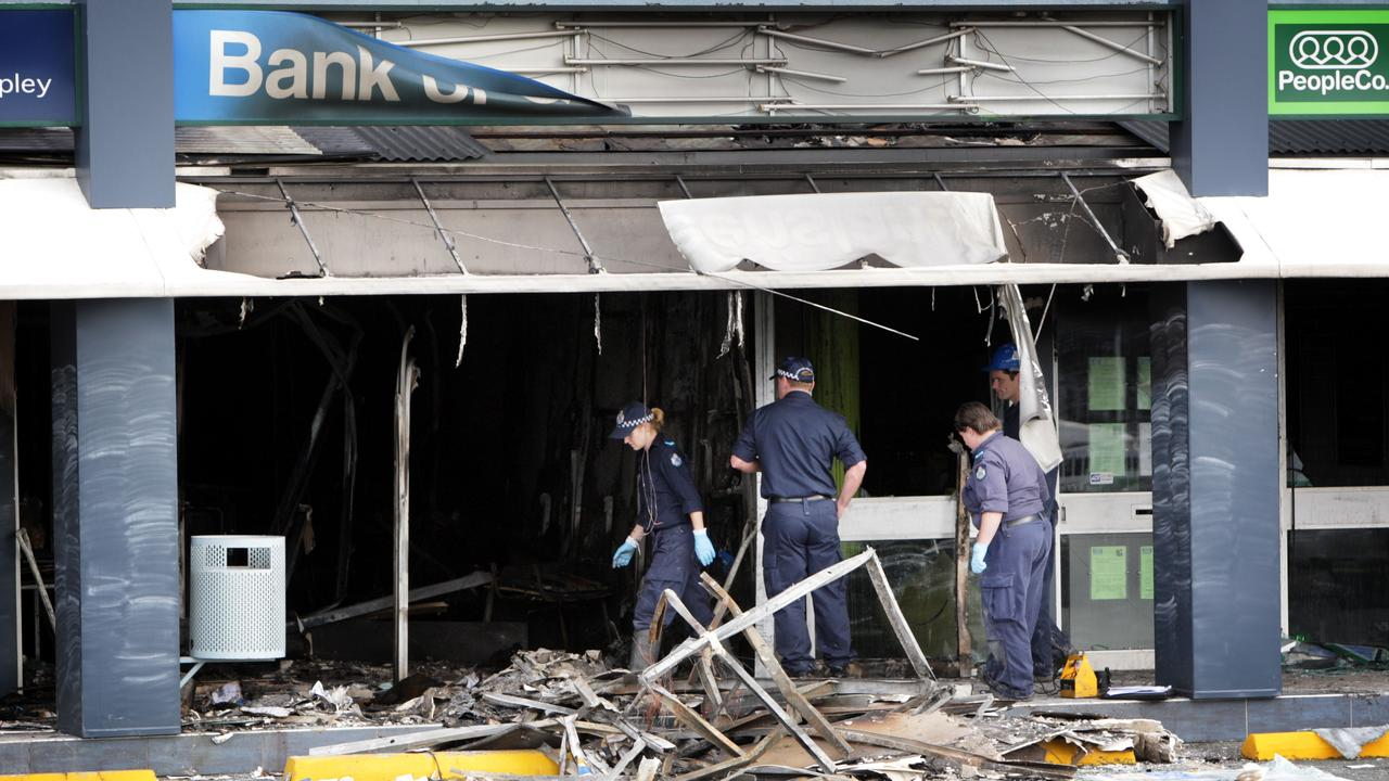 The Bank of Queensland on Gympie Rd, Aspley, was blown-up during an attempted robbery in 2008.