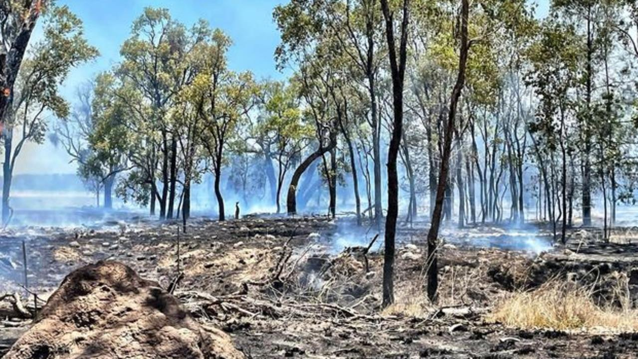 Fire crews are on scene at a bushfire just outside of Cecil Plains, and another near Kogan on December 3. Picture: Tammy Harrison