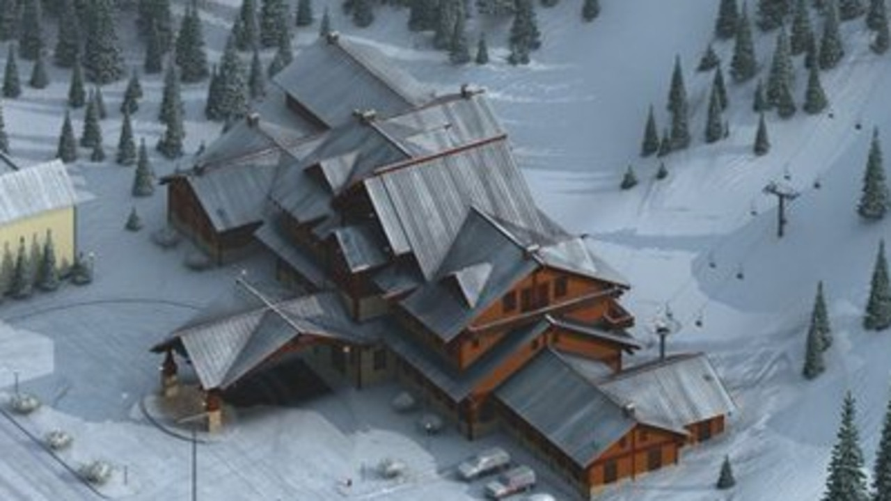 The rest of the image shows ski lifts and a building. Picture: CIA/Twitter