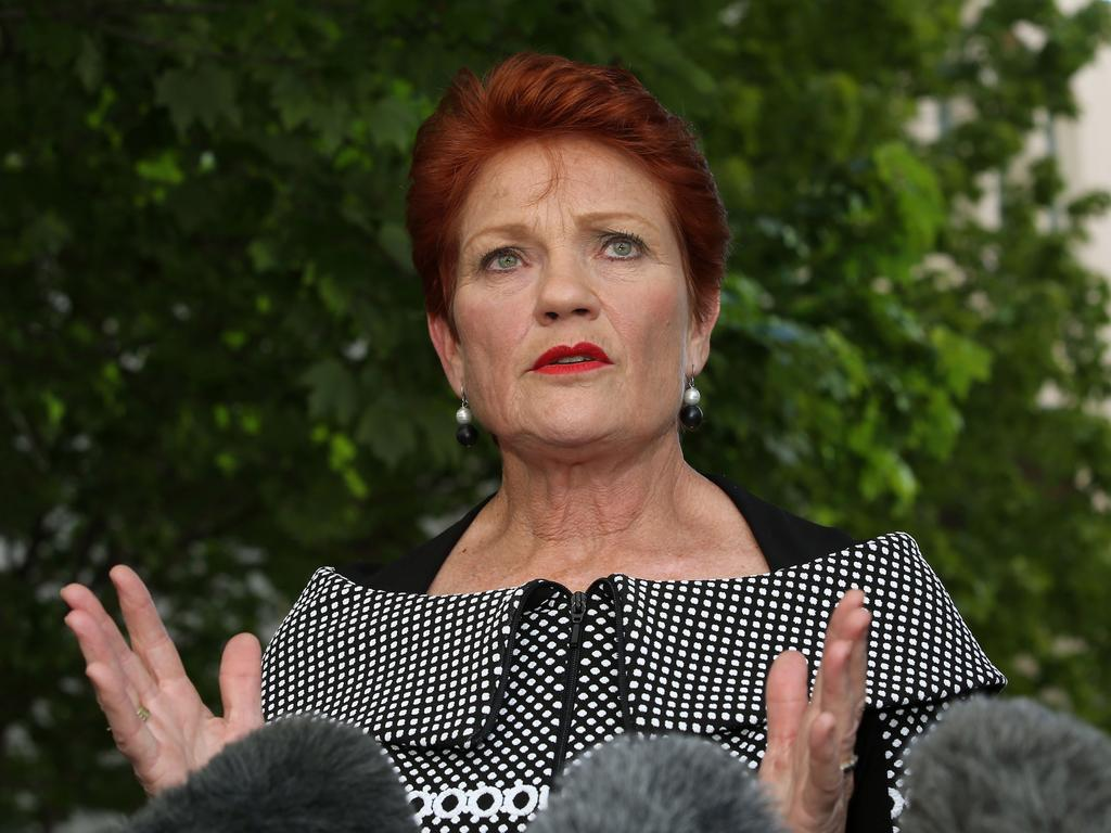 Pauline Hanson is leading calls for Australians to boycott Chinese-made products. Picture: Gary Ramage