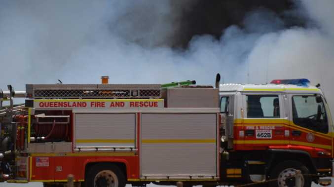 BREAKING: House goes up in flames in Emerald