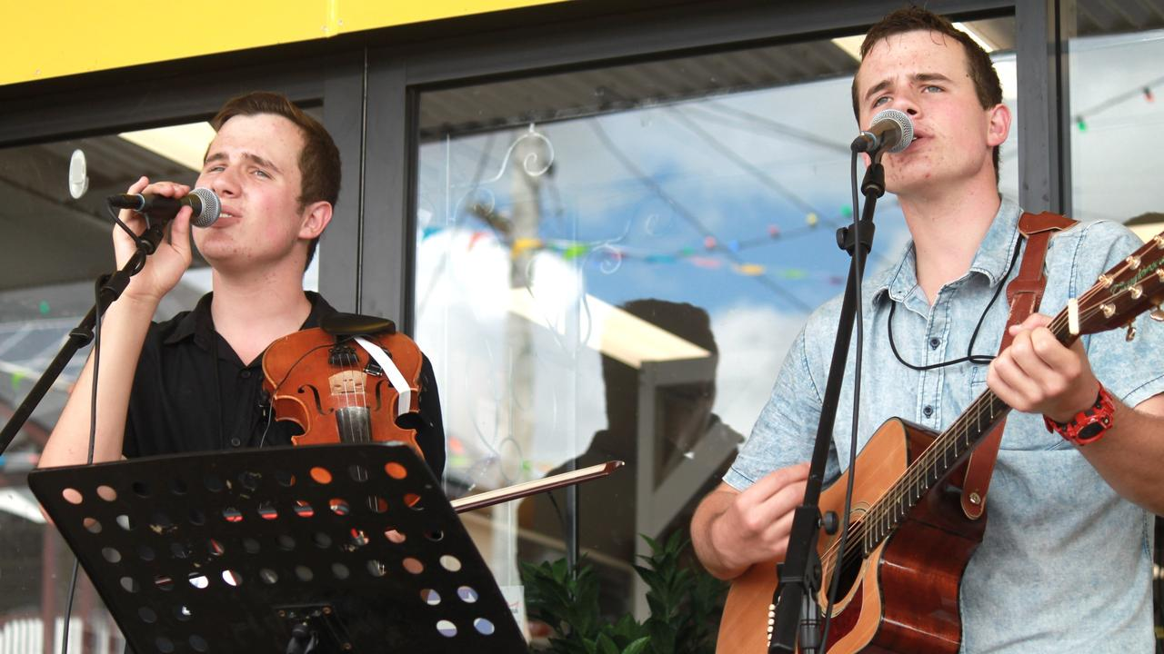 The Fern Brothers perform on Saturday.