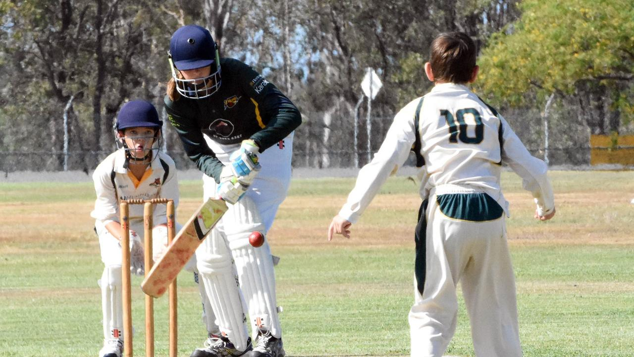 Action from the Level 2A cricket match between the Marburg-Mt Crosby Thunder girls and Northsiders at Marsden Park. Picture: Gary Reid