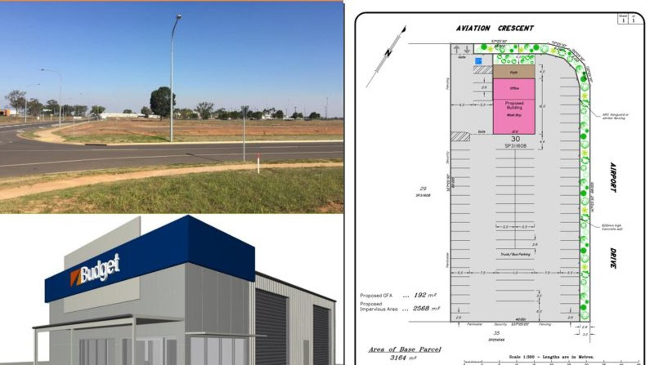 WAITING IN THE WINGS: A Material Change of Use application for an Outdoor Sales (Vehicle Rental Depot) near the airport has been lodged with the Bundaberg Regional Council. Source: Proposal document.