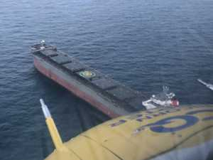 RACQ chopper off Gladstone coast to rescue man on bulk carrier