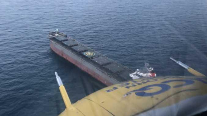 RACQ chopper off Gladstone coast to rescue man on bulk carrier