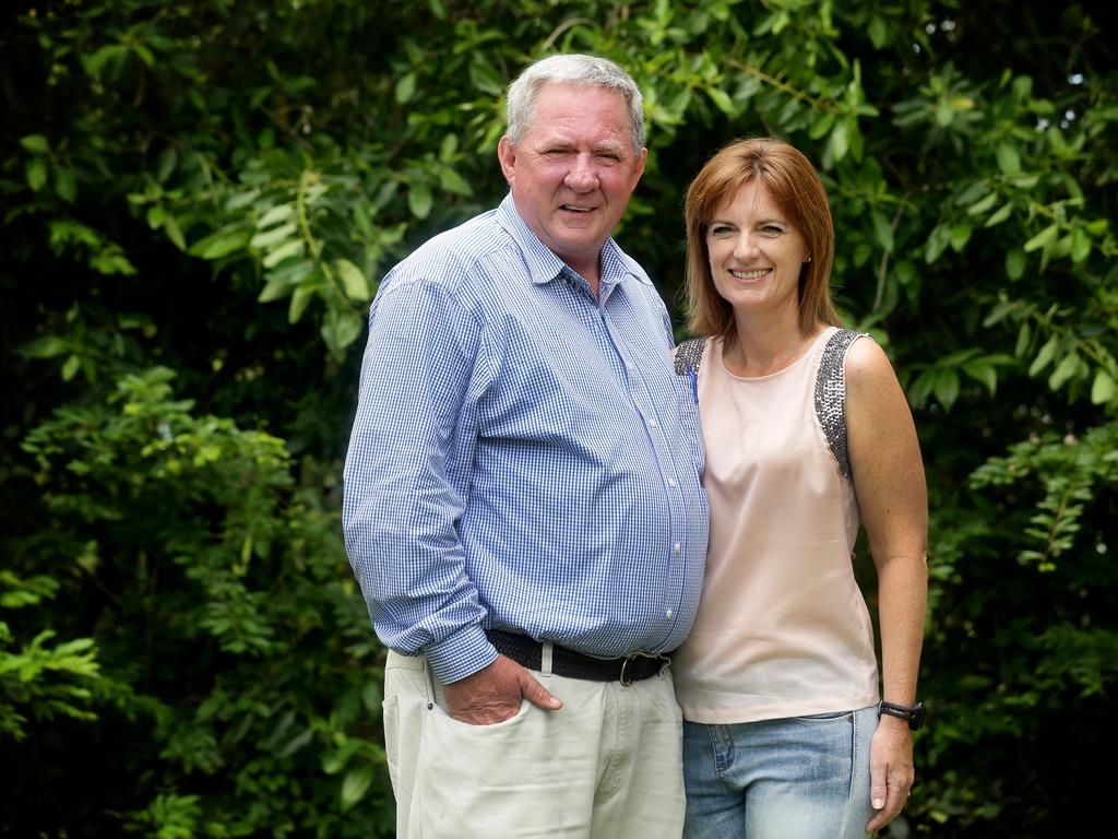 Tim Mulherin with his wife Erin. Picture: Mark Calleja