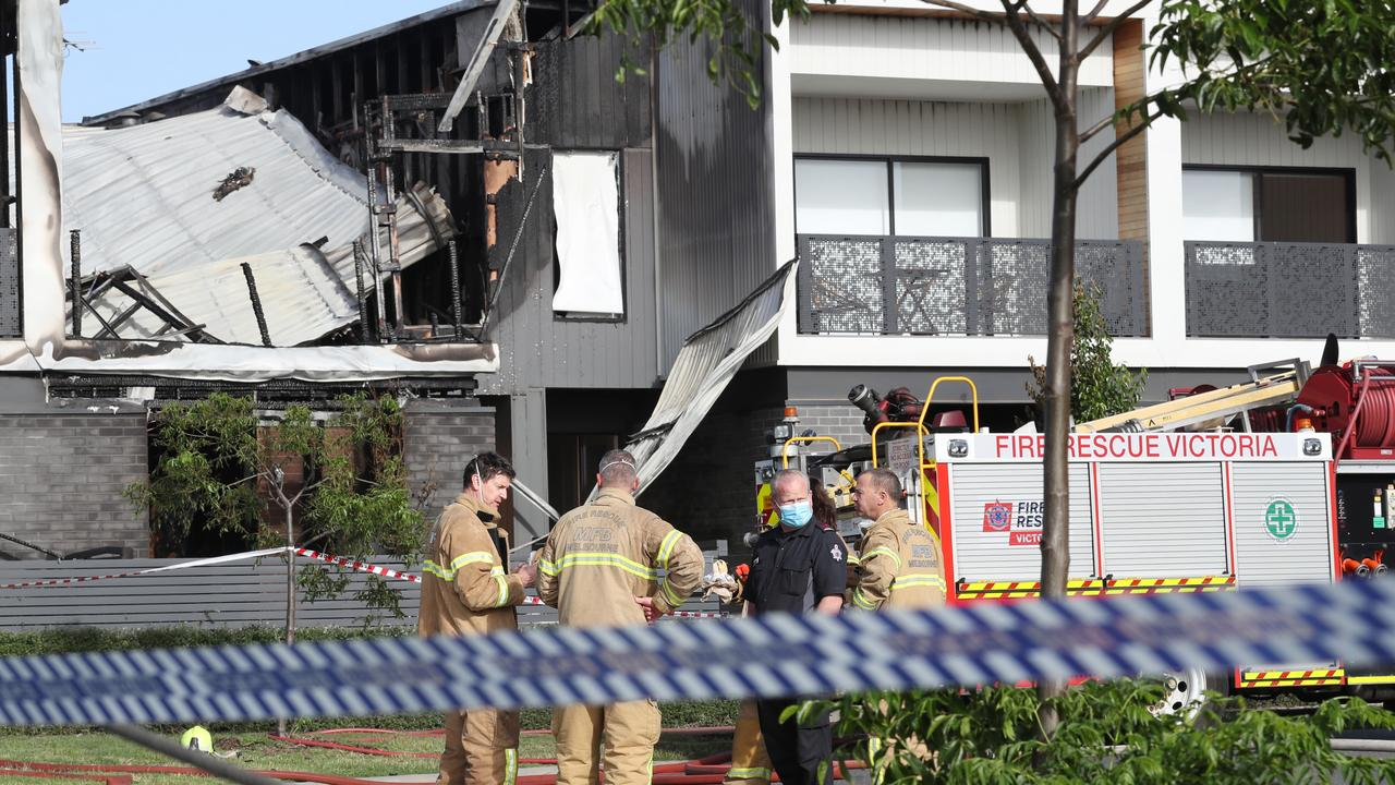 The aftermath of the fire at the young family's Point Cook home. Picture: David Crosling