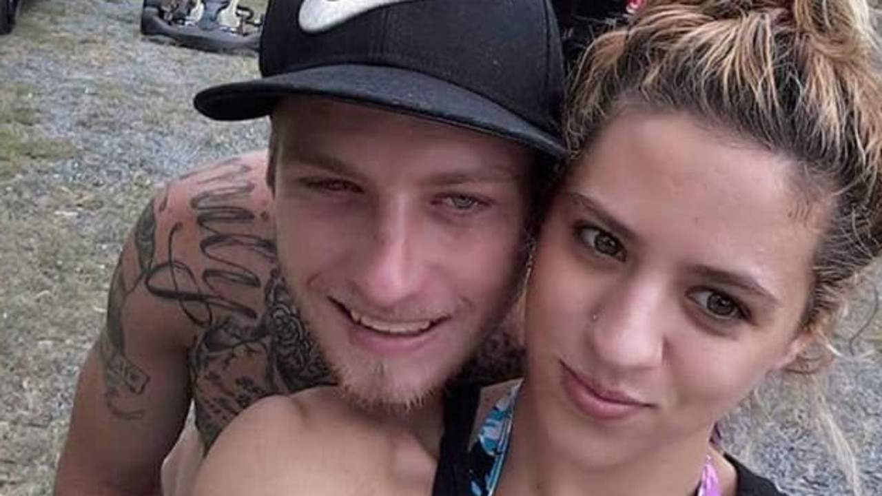 Loganlea man Aaron John Mannell, 27, with his deceased partner Sabrina Monique Strasberger, 26. Picture: Facebook