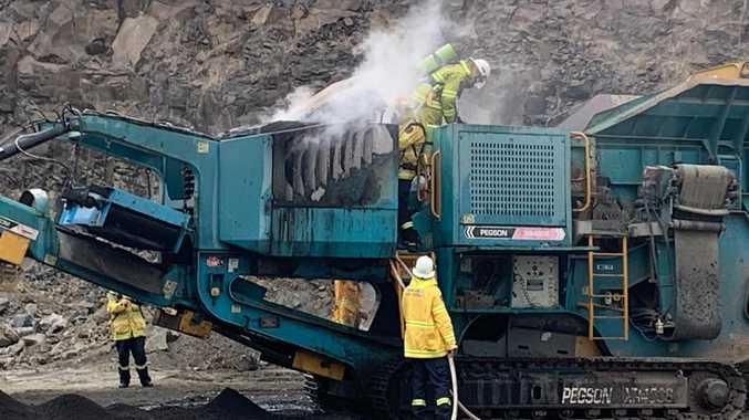 Three fire crews called to blaze at quarry near Lismore