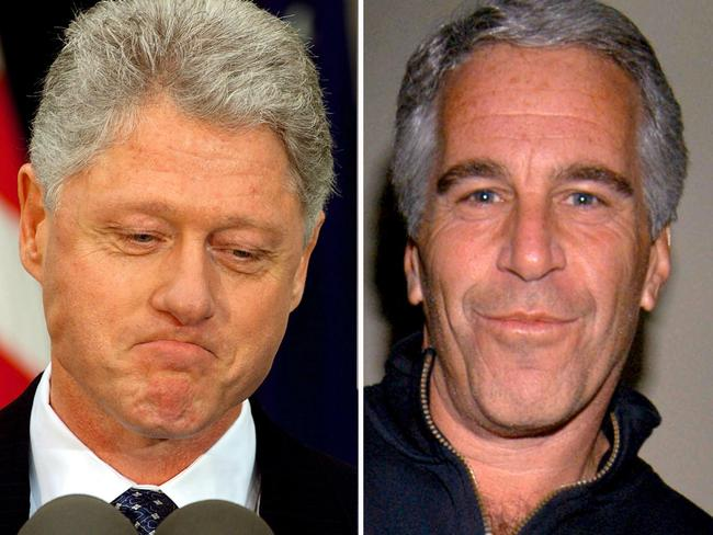 Bill Clinton and Jeffrey Epstein. Picture: Stephen Jaffe/AFP/Getty Images