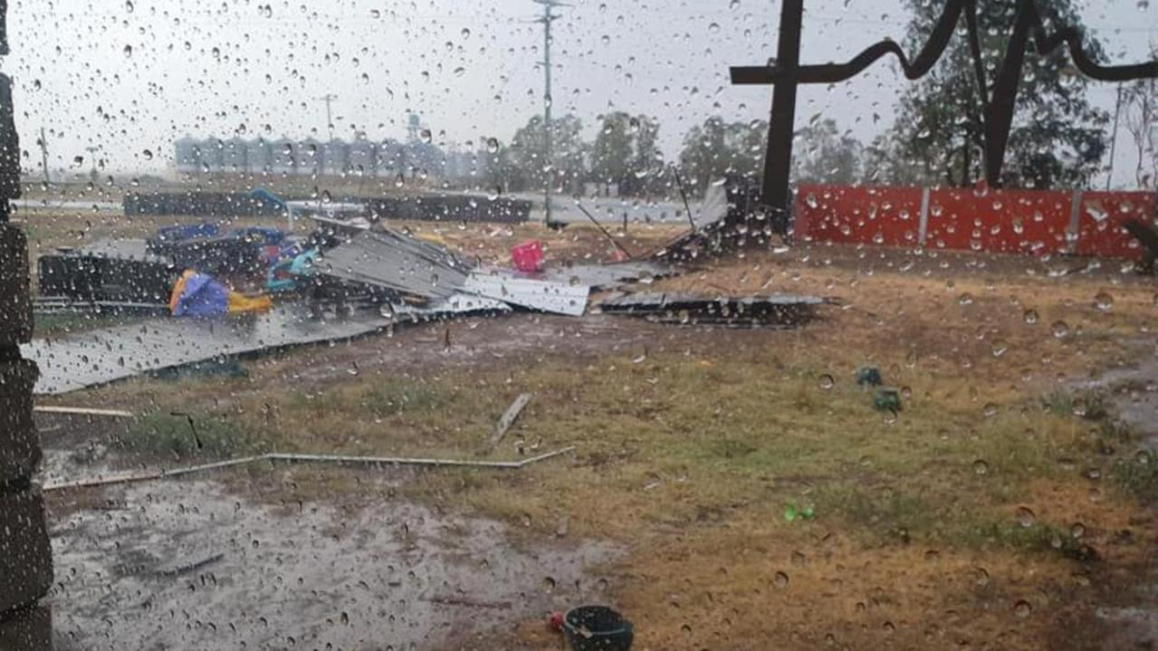 The carnage left by the December 2 storm in Dalby. Picture: Melissa Kerwin