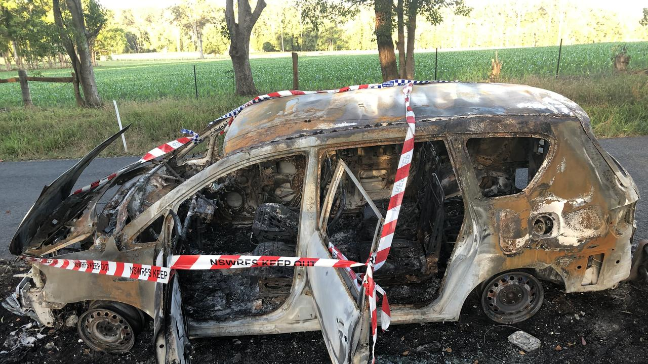 Marius Eden's car was stolen from outside his Bruxner Park home and was later found burned out in Bucca.