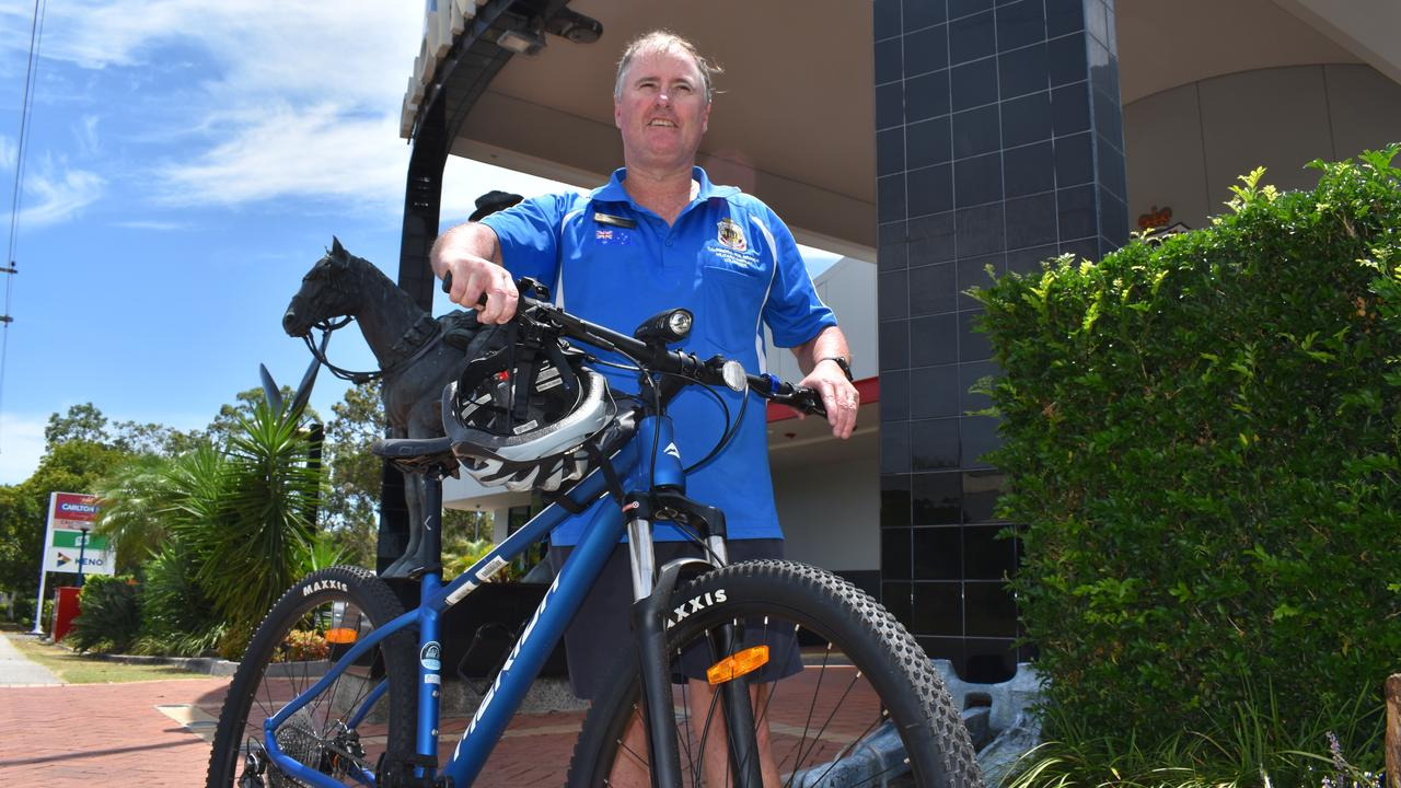 Carl McGarrity is back on track after having his stolen bike replaced by generous community members. Picture: Laura Pettigrew.