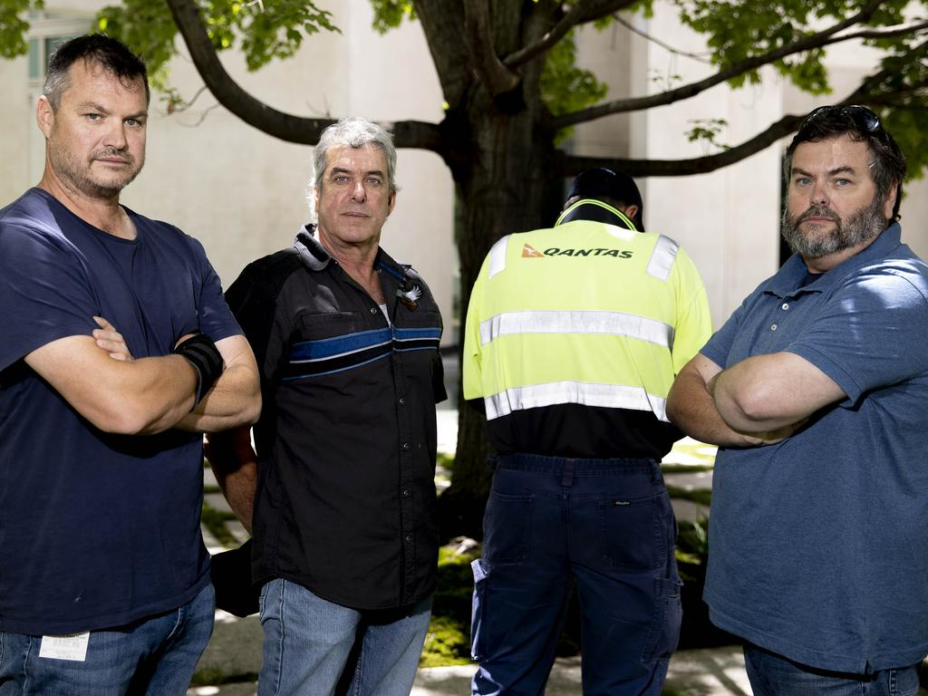 Sean Toohey (left) was told he'd lost his job via a prerecorded message. Picture: NCA NewsWire/Gary Ramage
