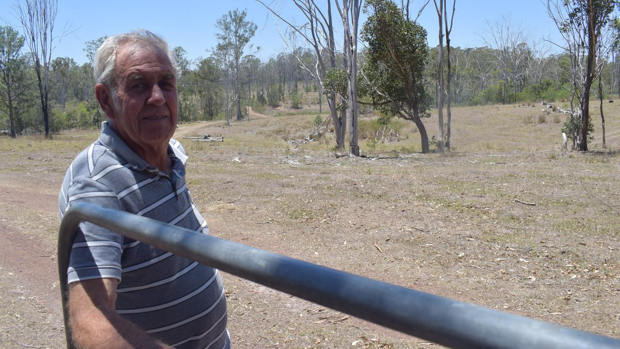 John Buckley says the TLPIs locked up about 80 per cent of his land on Eel Creek Rd.