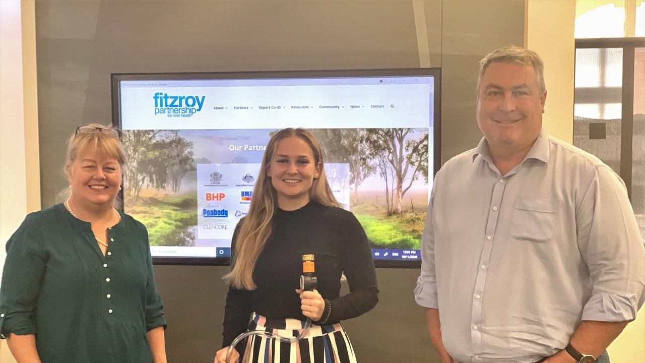 WATERWAY HEALTH: Fitzroy Partnership for River Health Executive Officer Dr Leigh Stitz (left) with recent scholarship recipient Tiffany Brown and Fitzroy Partnership for River Health Chairman Dan Yates.