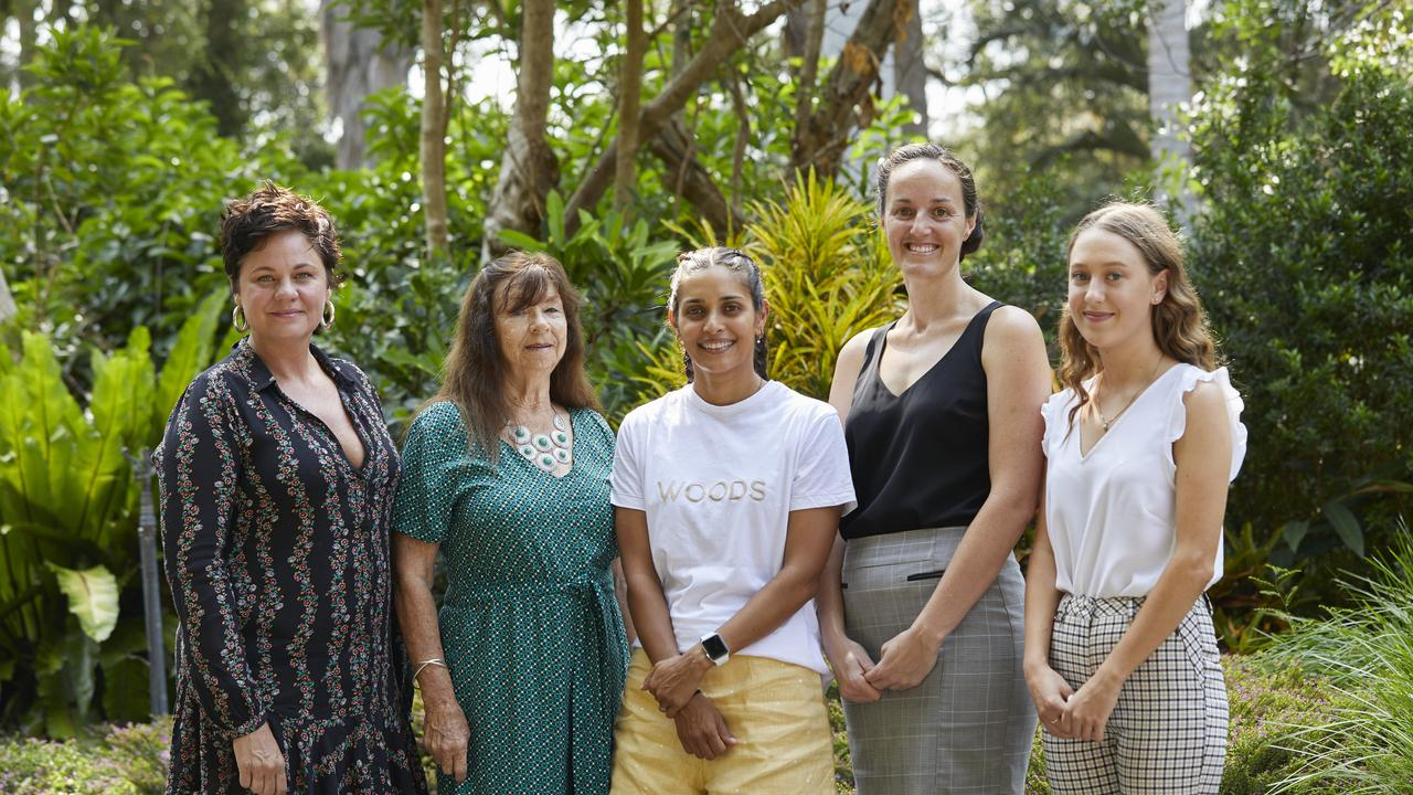 The finalists for last year's International Women's Day Coffs Coast Woman of the Year award. The winner was Lily Isobella for her work with victims of domestic violence (far left).