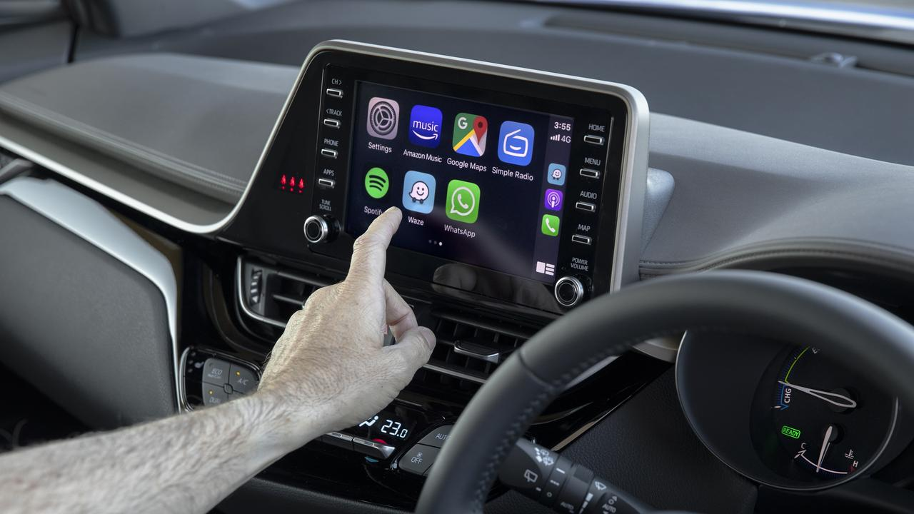 The 2020 model Toyota C-HR variants come with a larger touchscreen than previous models.