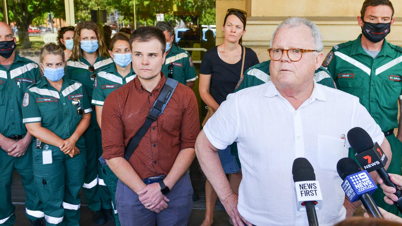 A group of paramedics were in the District Court on Friday to hear the verdict. Picture: NCA NewsWire/Brenton Edwards
