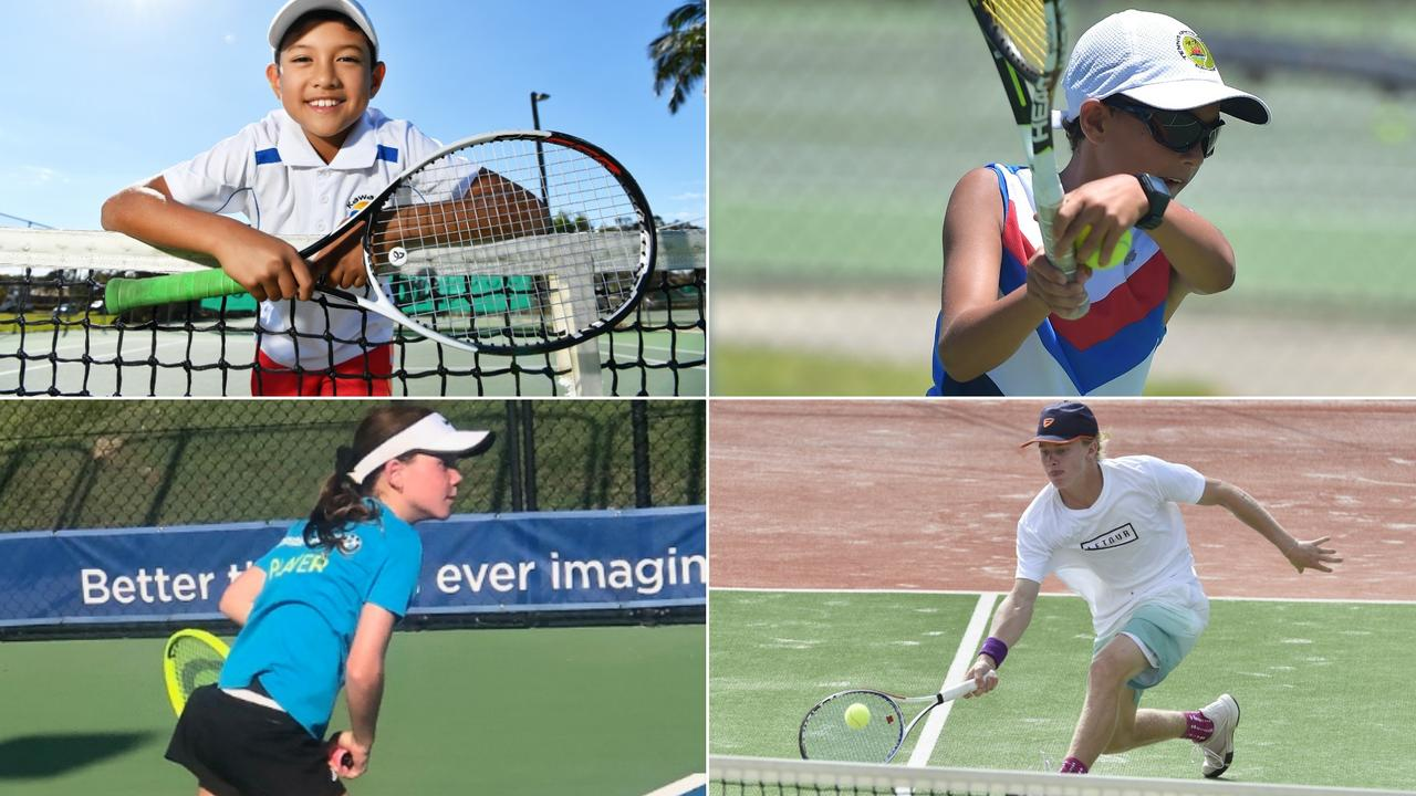 Connor McEvoy, Ozzy Robins, Milly Bonassi and Dane Sweeny are among the Coast's top tennis players.