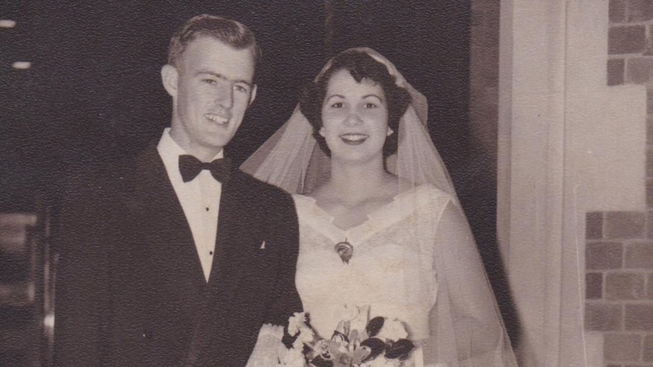 Buddina couple Graeme and Diana Armstrong celebrate their wedding day 65 years ago.
