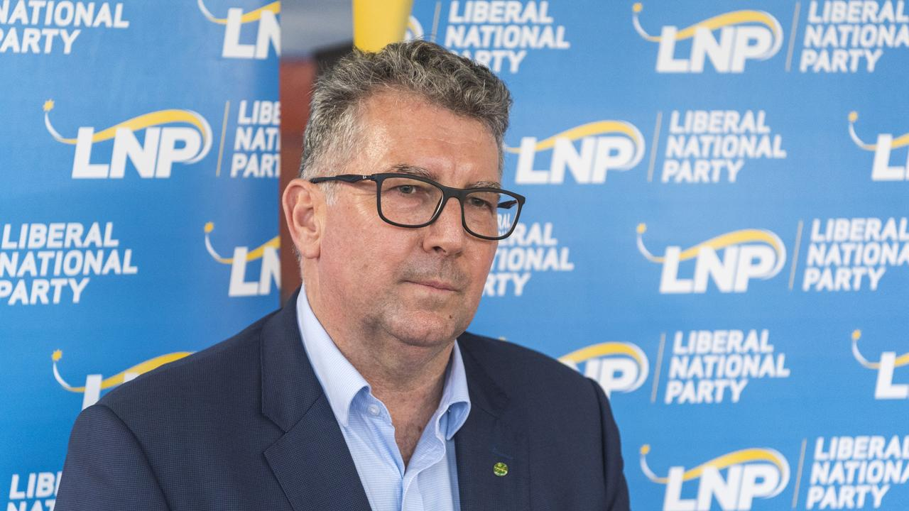 Hinkler MP Keith Pitt saying Hervey Bay and Bundaberg missed out in the state budget. Picture: Kevin Farmer