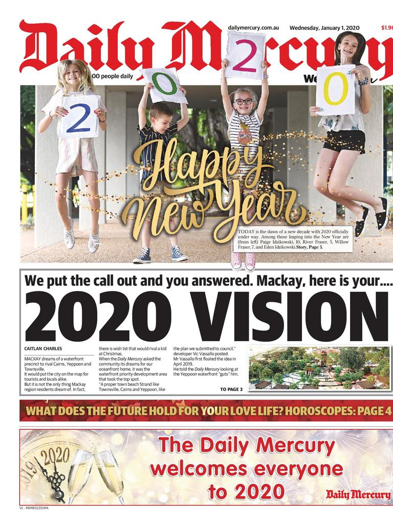 Many had hopes and dreams as to what 2020 would turn out to be, with some wanting a new waterfront precinct. Picture: Daily Mercury.