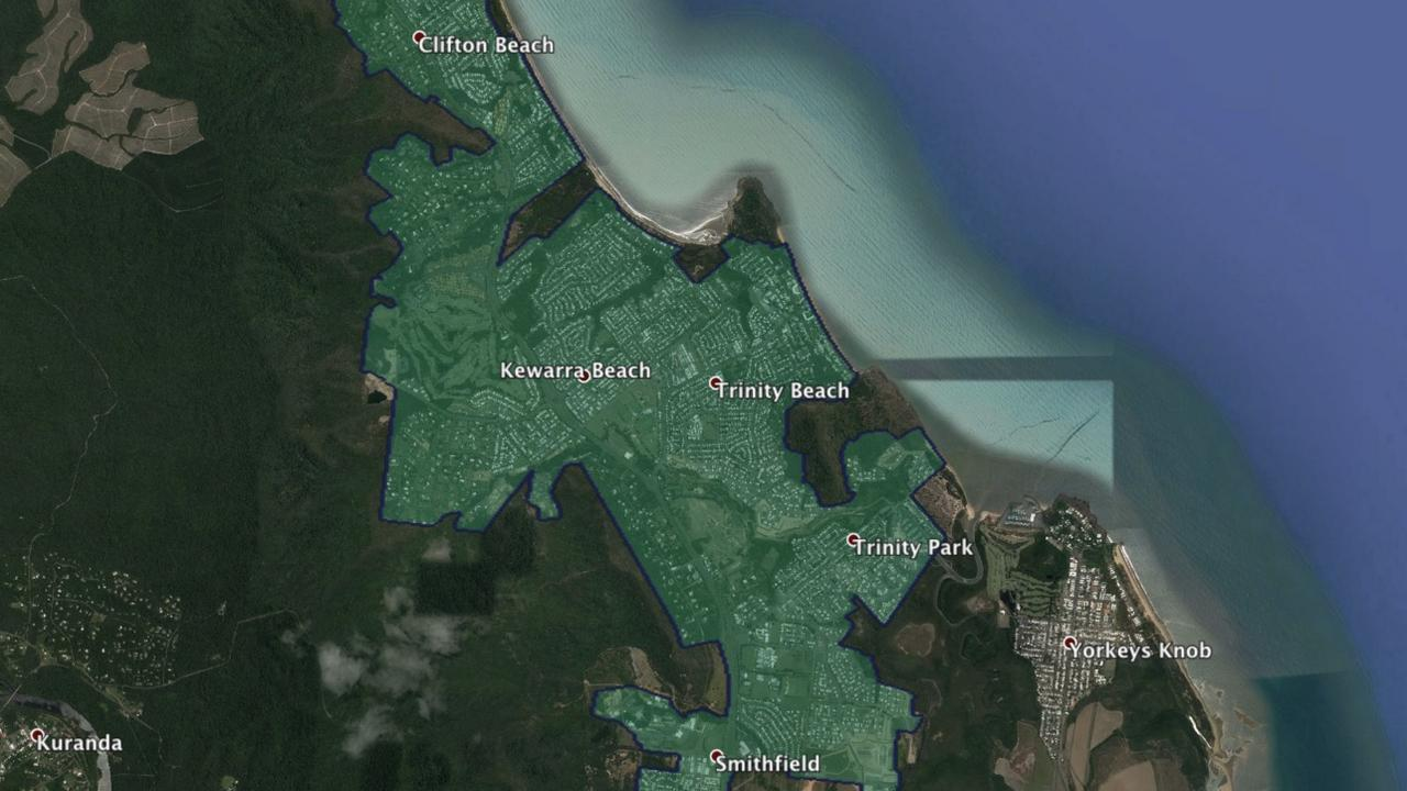The areas highlighted on this map are part of the northern Cairns NBN Business Fibre Fibre Zone.