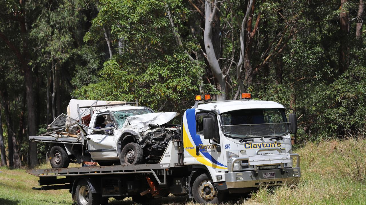 Emergency services were called to a two-car collision at Landsborough Maleny Rd shortly before 9am on October 4.