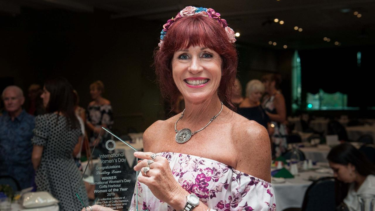 Shelley Lowe was the winner of the 2019 International Women's Day Coffs Coast Woman of the Year.