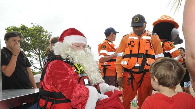 Santa swaps sleigh for Yamba SES