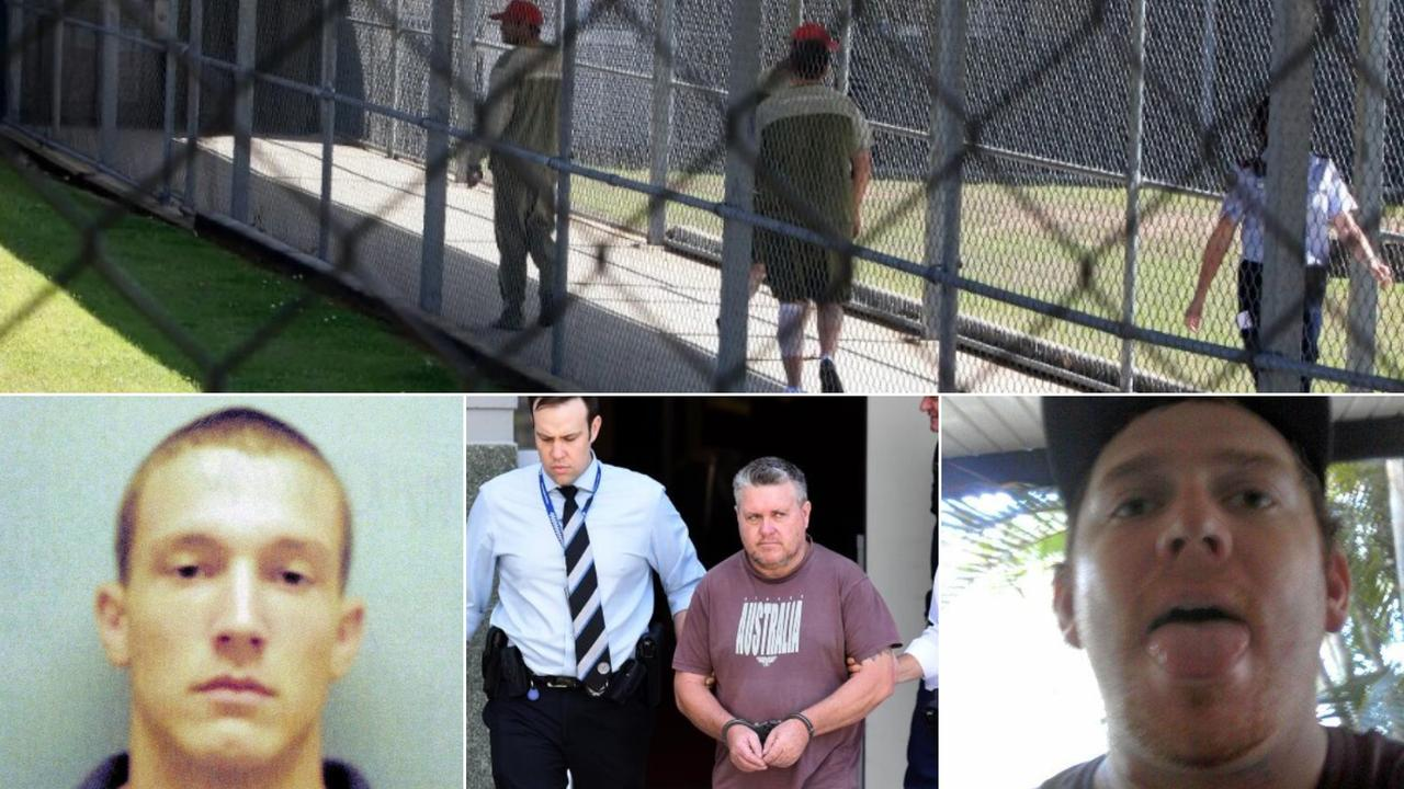 The Daily has taken a look at some of the most notorious criminals who have spent time at Woodford Correctional Centre over the years. They include John Brian Woodman Rick Thorburn and Brenton Brian Chettle (left to right).