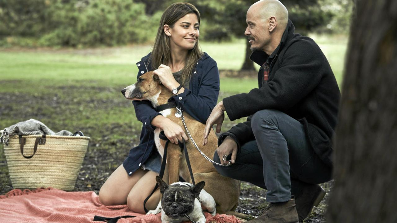 Brooke Satchwell and Scott Ryan in a scene from season two of the TV series Mr Inbetween. Picture: Foxtel
