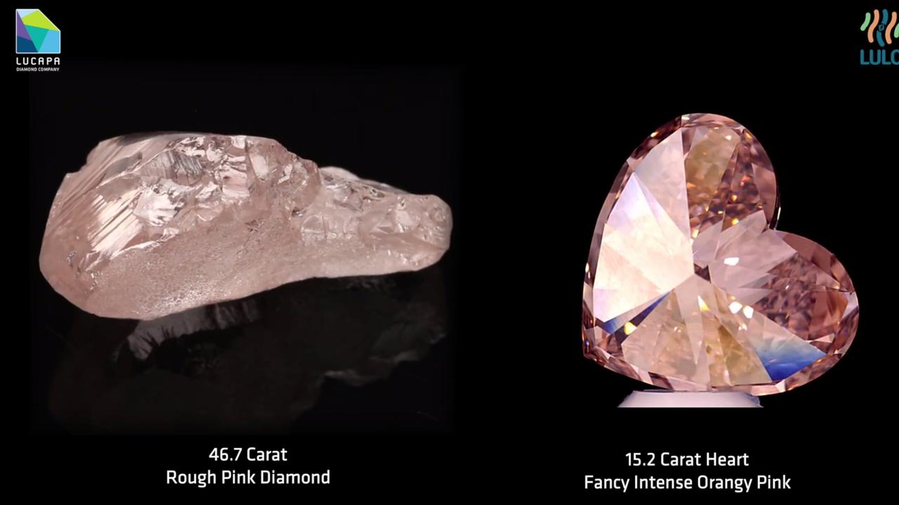 Pink diamonds are set to become even more rare with the recent closure of the Argyle mine in WA. Picture: Lucapa Diamond Company via NCA NewsWire