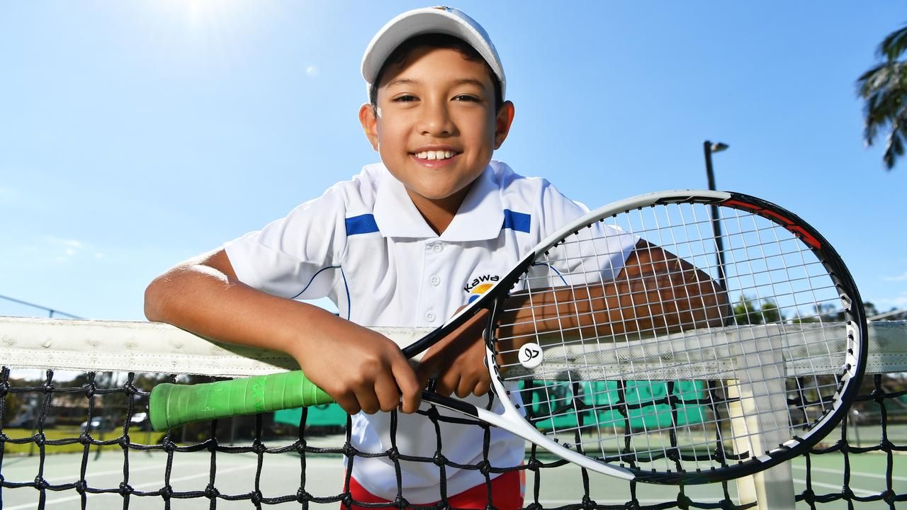 10-year-old Connor McEvoy won the Rod Laver Queensland Junior Championships in both singles and doubles in 2019. Picture: Patrick Woods