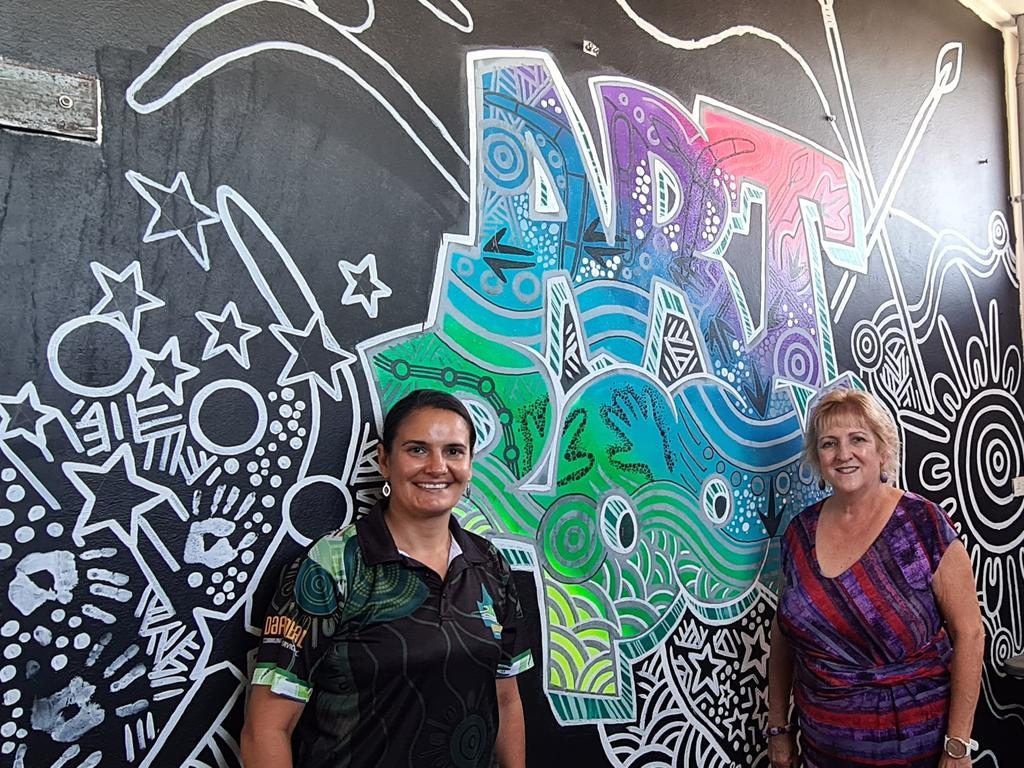 Michelle Landry tours Darumbal Youth Services in Rockhampton.