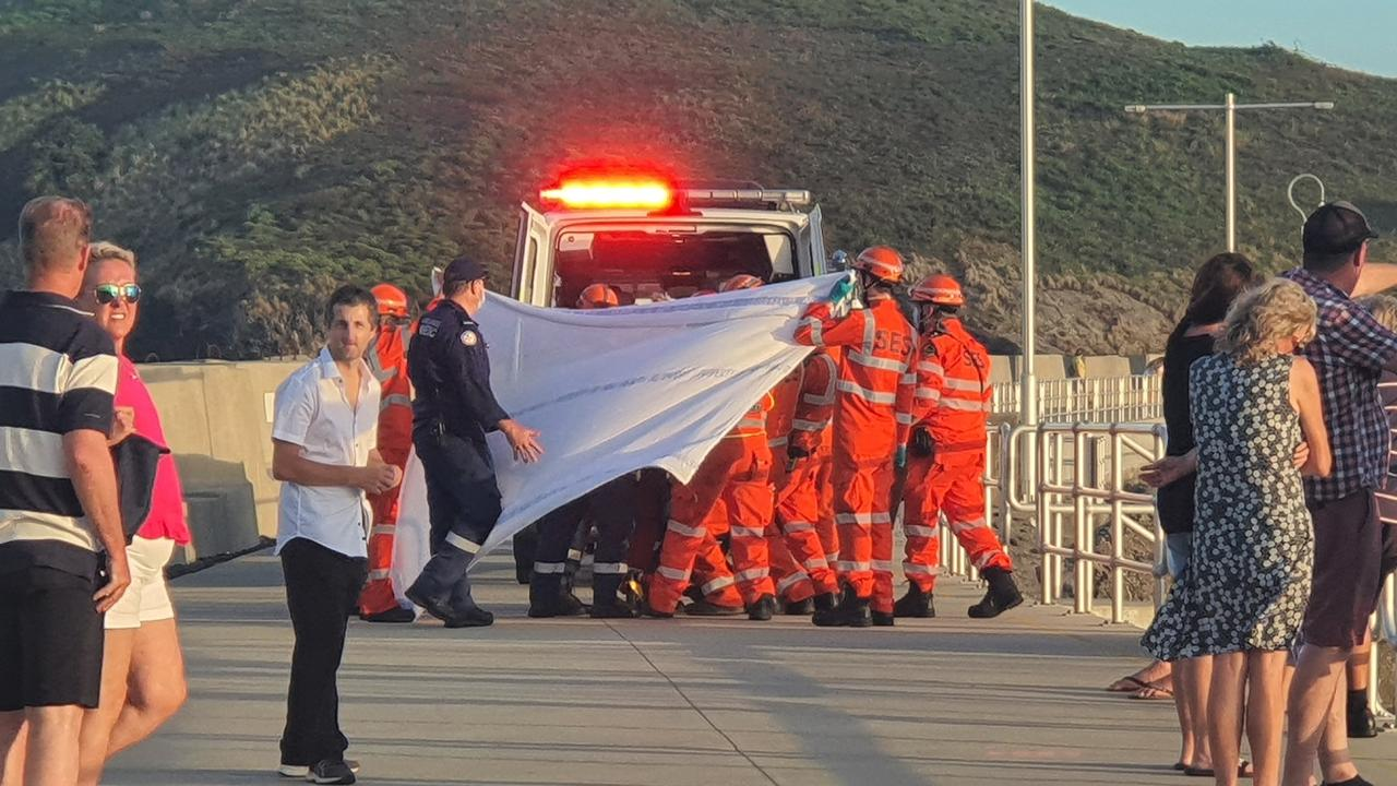 A rescue took place just before 6pm on Friday (December 4) at the Coffs marina. Photo by Frank Redward