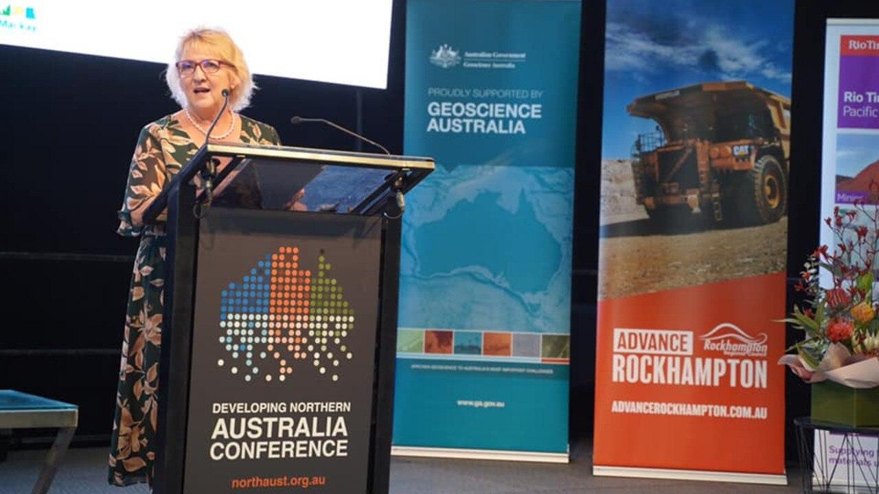 Michelle Landry delivering her keynote speech at the Delivering Northern Australia conference.